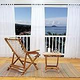 Voile Gardinen Transparent Vorhang Schlaufen - PONY DANCE ( 1 Stück, H 274 x B 137 cm, Weiß ) Luftig Dunstig Durchsichtig Polyester Lichtdurchlässig Dekoschal