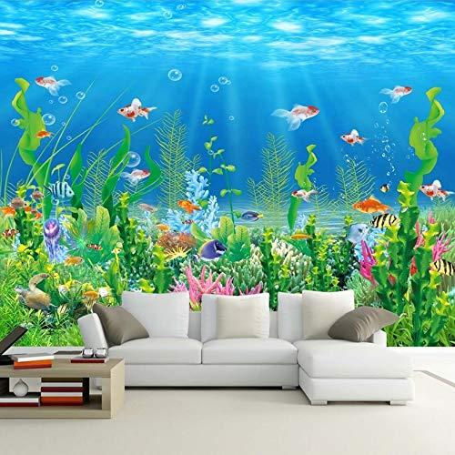 MuralXW Fototapete Tapete 3D Unterwasserwelt Wohnzimmer Sofa Schlafzimmer TV Hintergrund Tapete Wandverkleidung Wohnkultur-200x140cm