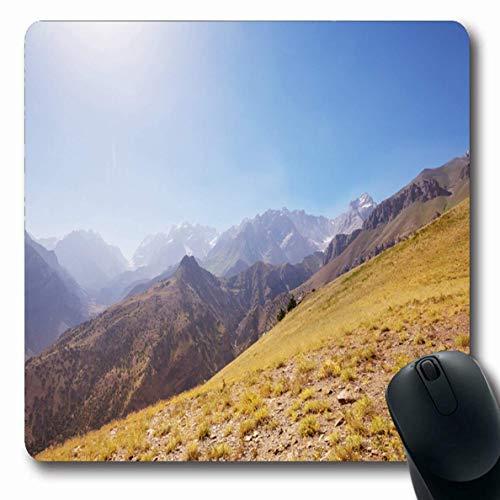 Luancrop Mousepads für Computer Central Blue Fantastische Fanns Mountains Tadschikistan Reise Natur Alpine Backpacking Atemberaubende Asien rutschfeste Oblong Gaming Mouse Pad -