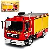 alles-meine GmbH Man TGL 8.220 Feuerwehr Rot 1/43 Atlas Modell Auto mit individiuellem Wunschkennzeichen