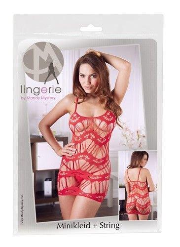 Mandy Mystery lingerie Kleid rot