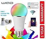 WIQD Smart WiFi LED Bulb, 7W Multiple Color Voice Control for Alexa