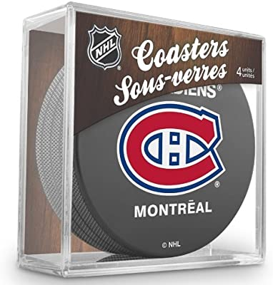 Sherwood Montreal Canadiens NHL Hockey Puck – Posavasos (4 unidades)