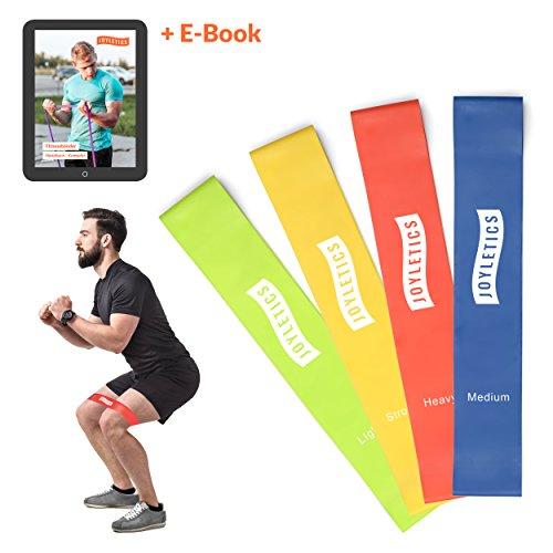 Joyletics® Fitnessband »Short Loop Set« 4 Stärken | Resistance Band für Fitness und Reha für ganzheitliches Muskeltraining + Transporttasche