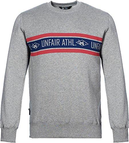 UNFAIR ATHLETICS Herren Oberteile / Pullover Athl. Striped grau S (Striped Shirt Crewneck)