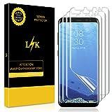 K&L LK Schutzfolie für Galaxy S8 [3 Pack], Liquid Skin [Vollständige Abdeckung] [Blasenfreie] HD klar Flexible Folie for Samsung Galaxy S8 Schutzfolie.