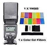 YONGNUO YN685 YN-685 (YN-568EX II versione aggiornata) Wireless HSS TTL Speedlite Costruire in Ricevitore lavorato con YN622C YN622II-C YN622C-TX YN560IV YN560-TX RF605 RF603II e filtri gel di colore immagine