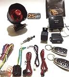 Dalù - Car Alarm Security System KIT PROFESSIONALE PER ELETTRAUTI ALLARME SIRENA CON CONTROLLO CHIUSURA CENTRALIZZATA E 2 TELECOMANDI MULTIFUNZIONE - USD U.S.A. Design