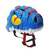 MMRLY Casque de Dessin animé 3D Casques pour Enfants Moto Casques pour Enfants Cartoon Boy Girl Demi-Helme Enfants Léger Vélos Enfant Sécurité Chapeaux Cadeau de Jour des Enfants (5-8 Ans),Blue
