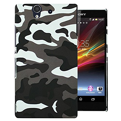 Heartly Army Style Retro Color Armor Hybrid Hard Bumper Back Case Cover For Sony Xperia Z L36H L36I - Camouflage  available at amazon for Rs.249