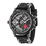 Police Herren Multi Zifferblatt Quarz Uhr mit Silikon Armband 14536JSB/CB