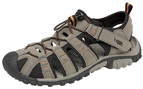 PDQ , Sandales de marche pour homme Beige - Dark Taupe/Orange