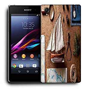 Snoogg Small Ship On Desk Printed Protective Phone Back Case Cover For Sony Xperia Z1