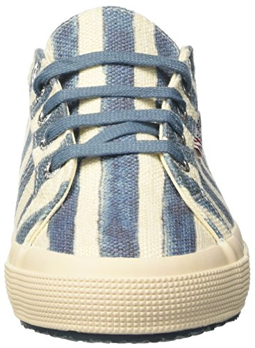 Superga 2750-linstripesw, Sneakers basses femme Multicolore (Off White/Azure)
