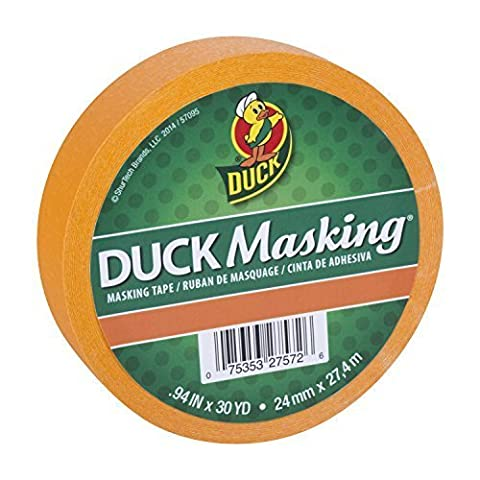 Duck Masking 240883 Orange Color Masking Tape, .94-Inch by 30 Yards by Duck (30 Yd Masking Tape)