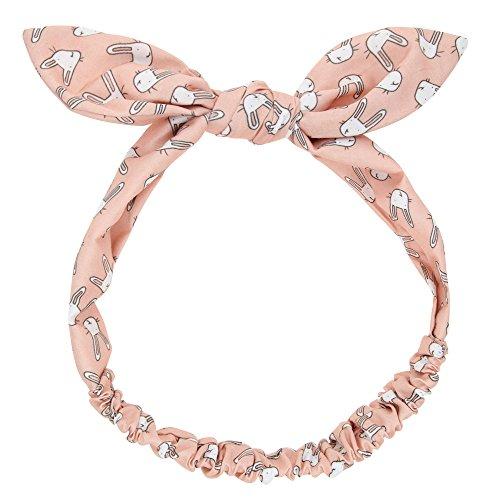Cinta para el bebé ,Chikwin Bebes encantadoras Lindo oído de conejo banda de pelo tejido elastic (rosa)