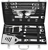 Best Grill Tool Sets - grilljoy Premium BBQ Grill Tool Set with Aluminum Review