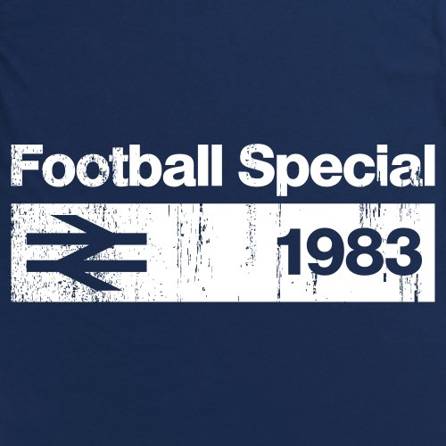 Football Special 1983 Vintage T-Shirt, Herren Dunkelblau