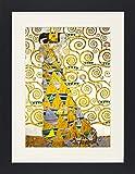 1art1 113484 Gustav Klimt - Die Erwartung, 1905-1909 (Detail) Gerahmtes Poster Für Fans Und Sammler 40 x 30 cm