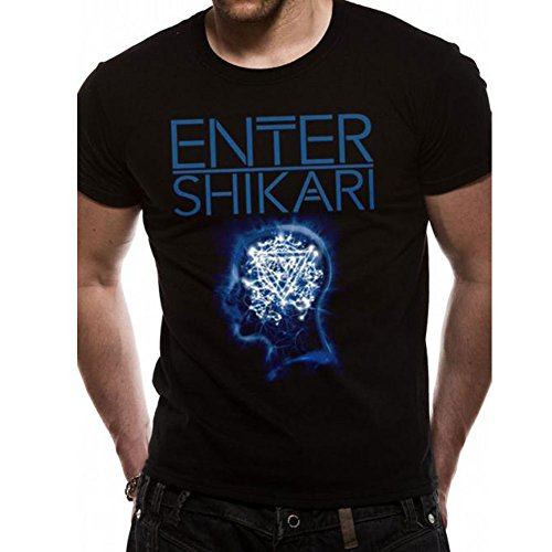 CID - ENTER SHIKARI - MINDSWEEP, T-shirt Uomo, Nero (Black), X-Large