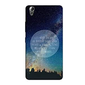DREAMS ACTIONS WORDS BACK COVER FOR LENOVO A6000