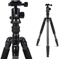 Sirui Compact Traveler 7C Tripod 65.55 inches Lightweight Carbon Fiber Travel Tripod Portable Monopod with 360° Panorama…