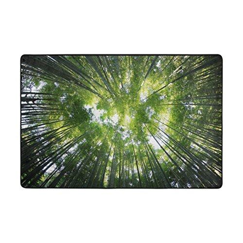 LIANCHENYI Motiv Bambus Wald, Rutschfeste Fußmatte, Fußmatte, Teppich, Fußmatte, für Innen und Außen, 182,9x 121,9cm