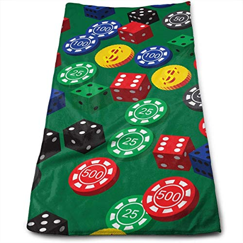 LULUZXOA Poker Chips Dice Pattern Yoga and