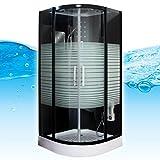 AcquaVapore DTP8068-1310 Dusche Duschtempel Komplett Duschkabine 90x90, EasyClean Versiegelung der Scheiben:Nein! +0.-EUR