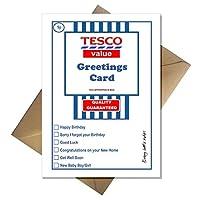 Tesco Value Birthday Card - Supermarket Spoof Funny A5 Basic Card