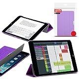 Orzly® - Apple iPad MINI SlimRim Tablet Case CUSTODIA con SUPPORTO integrato in VIOLA / PORPORA ( Alias: Orzly SlimRim Smart Stand Case ) - ULTRA SLIM PropUp Stand Case COPERTURA con SONNO-SENSORI INTEGRATI e coperchio magnetico. Adatto Apple iPad Mini ( TUTTI I MODELLI incluso: 2012 Originale versione + 2013 versioni con Retina Display & WiFi )