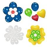 TOYMYTOY Clip de ballon en plastique forme de fleur Décoration de Fête Mariage Anniversaire - 50 Pièces
