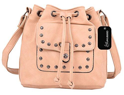 Kukubird Bonnie secchio borsa borsa Casual tutti i giorni con sacchetto raccoglipolvere Kukubird Beige