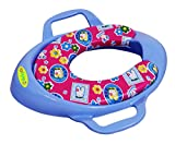 #1: BabyGo Cushioned Potty Seat, Toilet Seat with Handle (Blue)