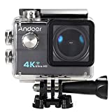 "Andoer® 2.0 ""LCD 4K WiFi Ultra HD Sport azione 16MP 25FPS 1080P 60FPS 4X Zoom 25mm 173 Degree Wide-Lens Impermeabile 30M dell'automobile DVR DV Cam - Andoer - amazon.it"