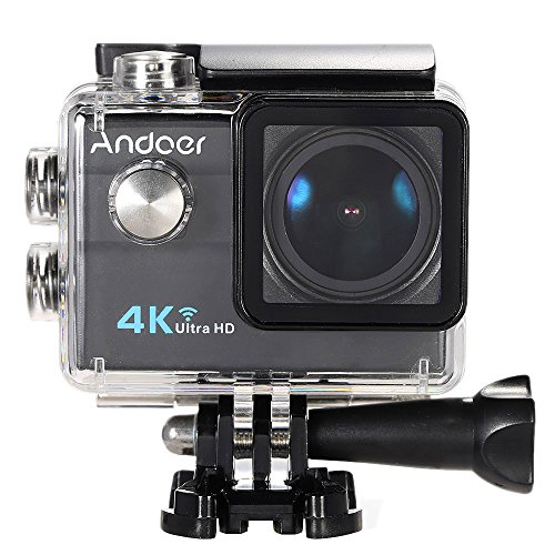 Galleria fotografica Action Cam 4k Andoer Action Camera ,Videocamera WIFI Ultra HD 1080p / 60 fps,Fotocamera Subacquea 16 MP Impermeabile WebCamera 173°Grandangolare 2.0 Schermo LCD con Vari Accessori Kit