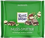 RITTER SPORT 250g Nuss-Splitter (11 x 250 g), Vollmilchschokolade mit Nuss-Stückchen, gehackte Haselnüsse in köstlicher Schokolade, nussige Großtafel