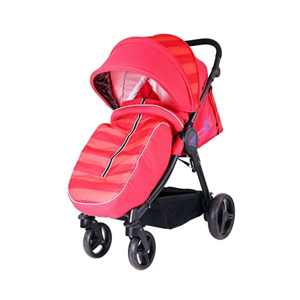 iSAFE Sail Stroller - 7 Colours! (Red) iSafe Media Viewing Extendable Hood Light Weight Sturdy Structure 1
