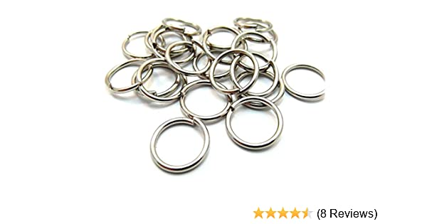 sturdy 50 x 16mm silver tone metal open jump rings