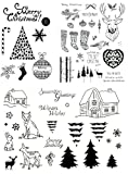 be fancy! Silikonstempel Set Weihnachten Winter - Clear Stamps - Stempel - 58 Motive - transparent