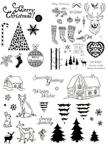 be fancy! Silikonstempel Set Weihnachten Winter - Clear Stamps - Stempel - 58 Motive - transparent