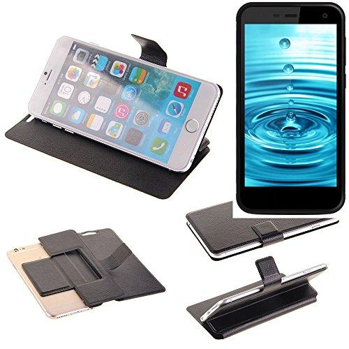 K-S-Trade Schutz Hülle für Energizer H500S Schutzhülle Flip Cover Handy Wallet Case Slim Handyhülle bookstyle schwarz