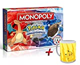 Pokemon. Monopoly Kanto Edition (Deutsch) + Tasse (+ Tasse Pikachu Evolution)