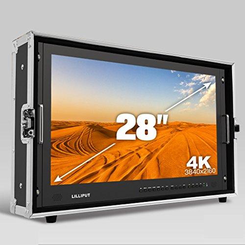 LILLIPUT 28 inch BM280-4K 3840x2160 Resolution Full HD Broadcast Ultra-HD 4K Field Monitor Film director 4K Field camera with 3G SDI HDMI DVI VGA TALLY +HOOD