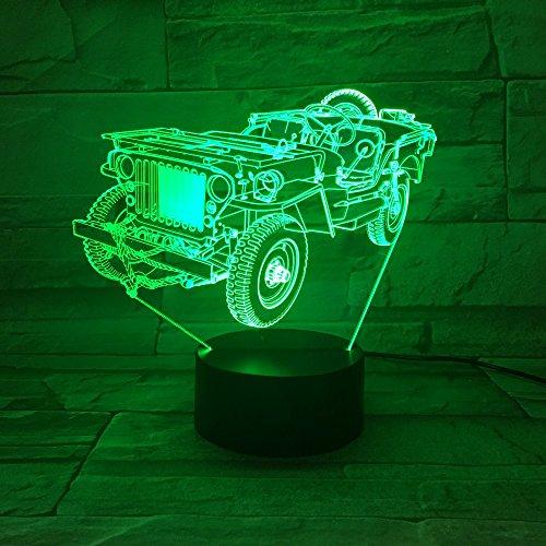 ampe/Optische Täuschung Led Nachtlicht / 7 Farben Touch Schalter Lampen/Wohnkultur/Traktor ()