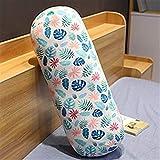Yuhualiyi123 Cuscino cilindrico di Moda Stampa Fenicottero Stampa Cuscino di Peluche Tondo Sostegno Fidanzato Fidanzata Cuscini Gamba Schienale Lavabile (Color : Leaves 60cm)