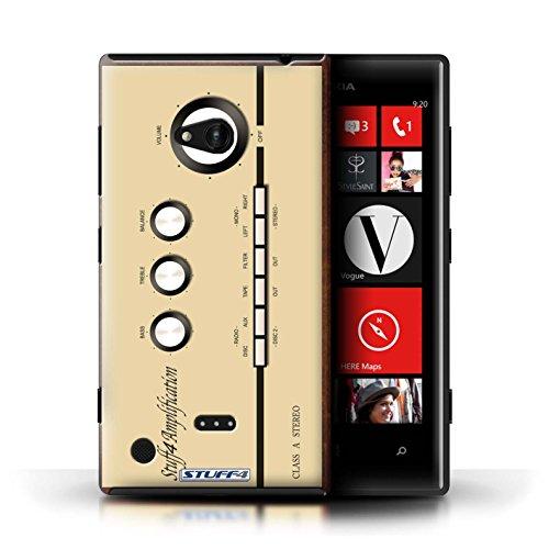Kobalt® Imprimé Etui / Coque pour Nokia Lumia 720 / Compact Cassette Audio conception / Série Retro Tech Amp/Amplificateur