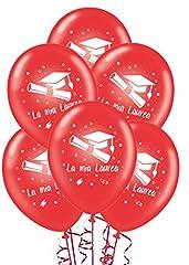 Idea Regalo - ocballoons Palloncini Laurea Rossi addobbi e Decorazioni per Feste Party Confezione 20pz