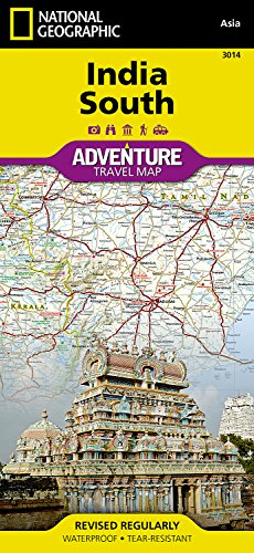 National Geographic India South: Adventure Map