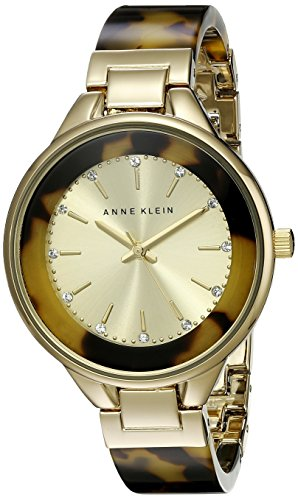anne-klein-womens-ak-1408chto-multicolor-stainless-steel-analog-quartz-watch-with-gold-dial